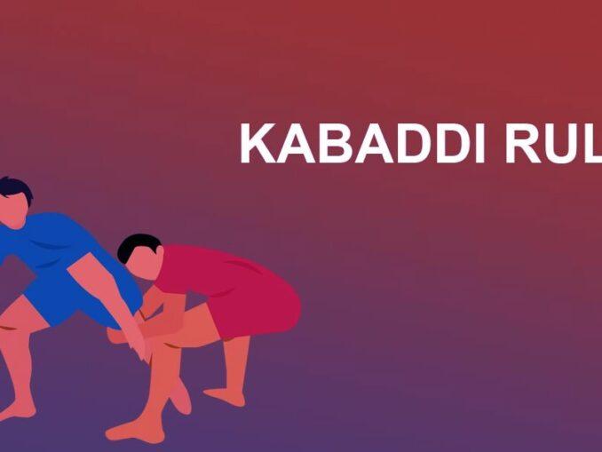 kabbadi rules